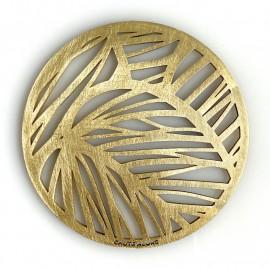 Dessous verre feuilles