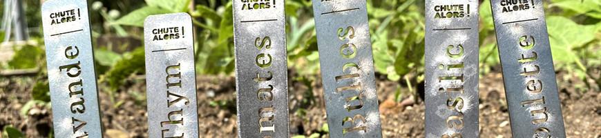 repères de jardin en métal
